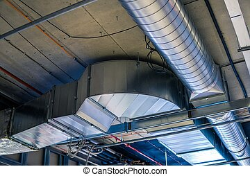 Pipes of HVAC system (heating ventilation and air...