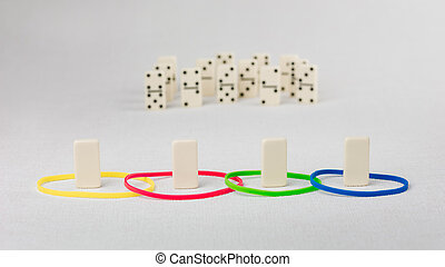 Domino represent human with different psyhological traits...