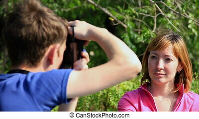 HD Couple photographed on a tree background