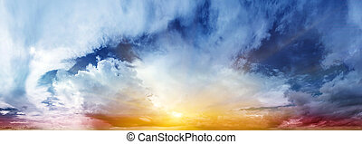 Beautiful sky. Summer art abstract sunrise