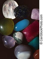 Group of multi-colored semi-precious stones