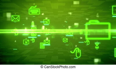 Abstract background with Computer signs - Abstract...