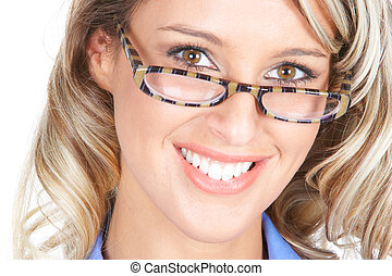 Business woman - Beautiful smiling businesswoman with...