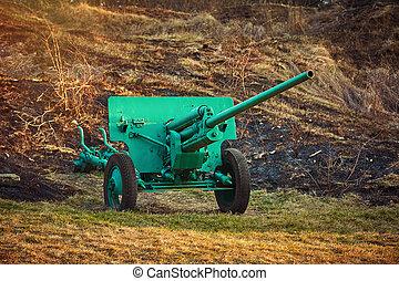 artillería, viejo, arma de fuego
