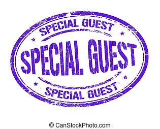Special guest sign or stamp on white background, vector...