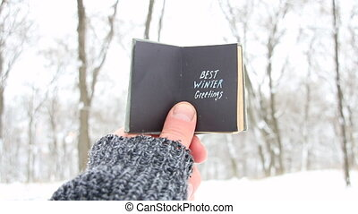 Best winter greetings. Christmas, joy, holiday idea.