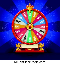 Fortune Wheel Realistic Vector Spinning Lucky Roulette