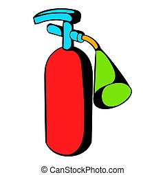 Fire extinguisher icon, icon cartoon - Fire extinguisher...