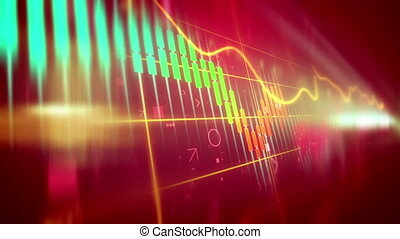 """Animation of down trend of stock market. "" - ""Stock market..."