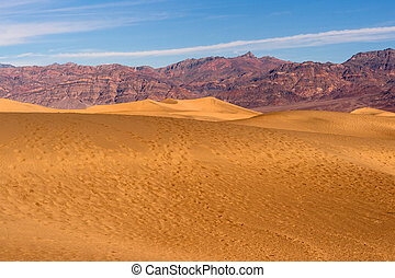 Sand Dunes Death Valley National Park - Footsteps in the...
