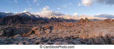 California Alpine Panoramic Alabama Hills Sierra Nevada...