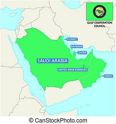 Map of the Member States of the Gulf Cooperation Council...