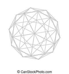 Geodesic grid. Meshes. Sacred Geometry. The intersection of...