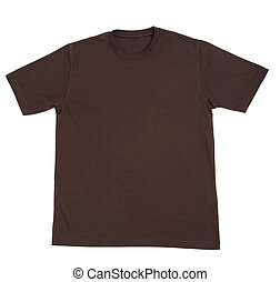 t, camisa, em branco, roupa