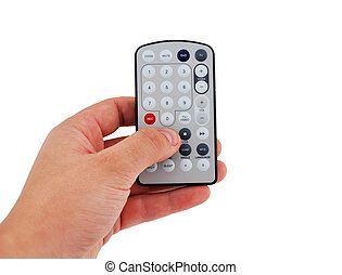 remote control tv tuner in my hand