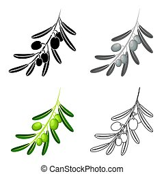 Olive branch.Olives single icon in cartoon style vector symbol stock illustration web.