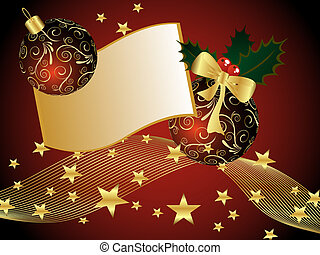 christmas card - vector illustration of of christmas balls...