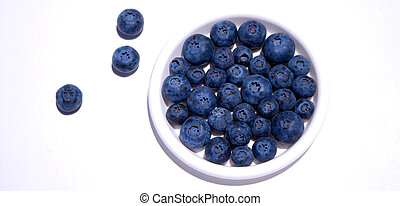 Blueberry. - Close-up view of fresh Blueberries isolated on...