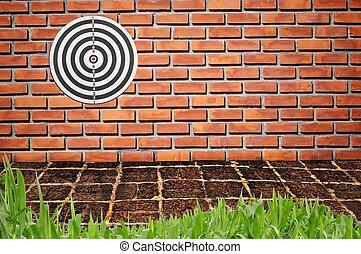 Target on brickwall
