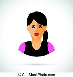 Women profile view