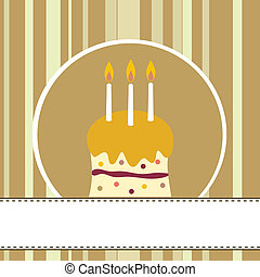 Birthday - birthday cake card