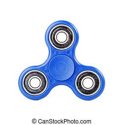 Blue Fidget Spinner on white background - Blue Fidget...