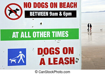 No dogs on beach sign - TAIPA - MANGONUI, NZ - JUNE 04...