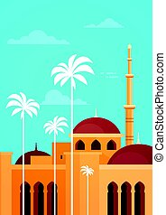 Muslim Cityscape Nabawi Mosque Building Religion