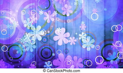 blue pink multicolored retro textured animated CG background...