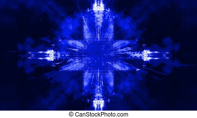 Blue high tech science fiction abstract looping animated CG background