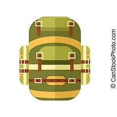 Camping and travel backpack icon vector illustration...