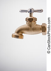 Brass Technical faucet with a shut-off valve and the ability...