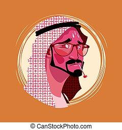 Profile Icon Indian Male Emotion Avatar, Man Cartoon Portrait Feeling Sick Fever Face