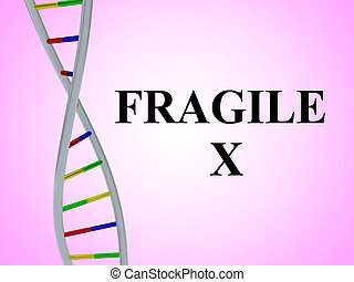 Fragile X concept - 3D illustration of 'Fragile X' script...