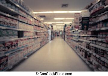 Bild, Supermarkt, Verwischt