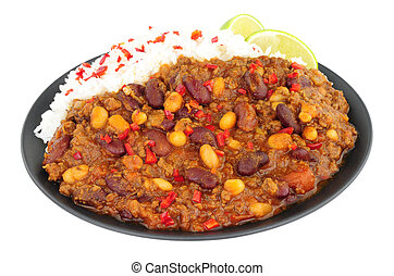 Chilli Con Carne And Boiled Rice - Chilli Con Carne with...