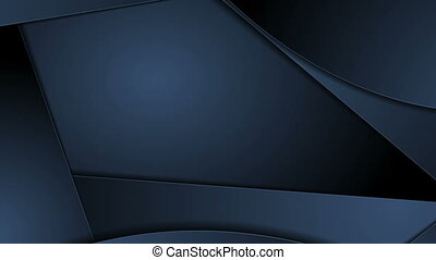 Abstract dark blue corporate material video animation -...