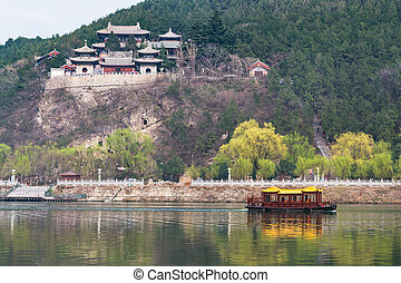 temples on East Hill of Longmen Caves - travel to China -...