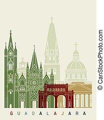 Guadalajara MX skyline poster - Guadalajara skyline poster...