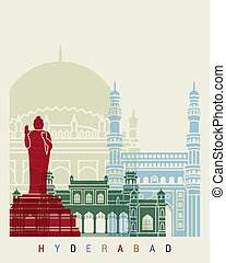 Hyderabad skyline poster - Hyderabab skyline poster in...