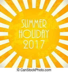 Summer background - 2017, vector illustration, EPS10