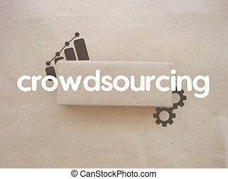 Crowdsourcing concept. On the texture objects of business.