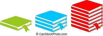 Textbook vector icon - Textbooks vector icons set