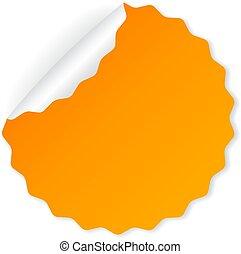 Orange vector sticker