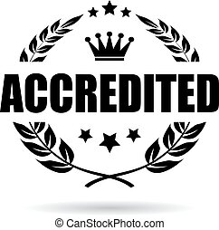 Accredited award icon isolated on white background