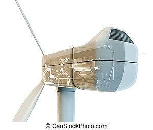 wind turbine - 3d illustration of a wind turbine isolated on...