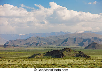 Altai mountains. Beautiful highland landscape. Mongolia