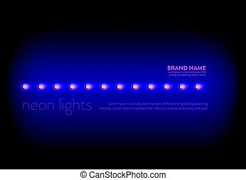 Vector illustration of a purple background with a line of...