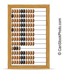 abacus old retro vintage icon stock vector illustration...