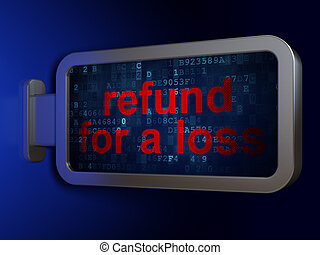 Insurance concept: Refund For A Loss on billboard background